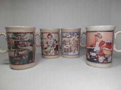 10 oz Watkins Almanac Mugs Heritage Series Collection England Ceramic Calendar 1916 1918 1937 1939 Americana Nostalgia Collector