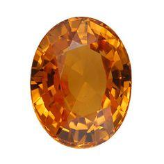 Orange garnet, 2.98 carat Also known as Mandarin garnet. Mineral is Spessartine/Spessartite