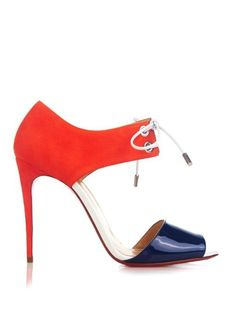 Christian Louboutin Mayerling patent-leather and suede sandals matchesfashion.com
