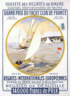 Yacht Club de France Regatta Ad Fine Art Print