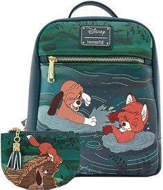 Disney Fox and The Hound Water Fight Mini PU Backpack and Cardholder Set designed by Loungefly Cute Mini Backpacks, Kids Backpacks, Disney Handbags, Purses And Handbags, Disney Baby Clothes, Disney Outfits, Popular Backpacks, Cute Bags, Water Fight