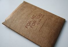 Simple paper eco and honest packaging with  very effective typography. and olde world type look and feel.