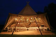 Wedding ceremony styling for Giant Hat tipi   www.worldinspiredtents.co.uk