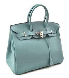 $11,950 Hermes Light Blue Ciel Togo Leather Birkin 35 Cm Handbag Bag New