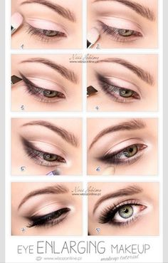 Make your eyes look bigger with this natural look. Light browns and a little black is all you need to look amazing. Visit Beauty.com for products that will make you feel naturally beautiful.
