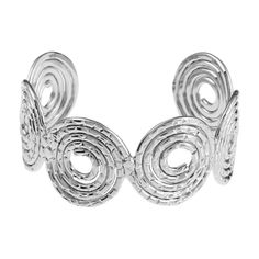 Hollow Out Spiral Cuff Bracelet Silver (96 PEN) ❤ liked on Polyvore featuring jewelry, bracelets, zaful, silver jewelry, hinged cuff bracelet, silver bangles, cuff bracelet and silver hinged cuff bracelet