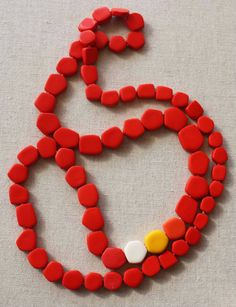 Leonie Simpson jewellery beautiful coral color on these flat beads