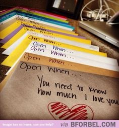 Cute idea for people you love :)