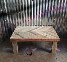 Chevron Pallet Coffee Table pallet wood coffee table- chevron top on etsy, $150.00 | projects