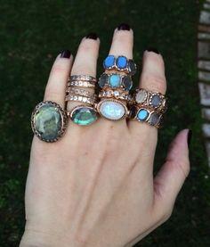 Amazing Arik Kastan - Thanks Gem Gossip! Our designs, in Labradorite, Rainbow Moonstone, and 14kt Rose Gold