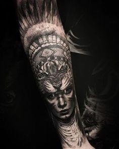 Tatuagem do Jordi, muchas gracias!!! Para quem acompanha meu trabalho, mais uma india com tigre, espero que curtem, referencia de mim mesmo ✍☝ grato a todos / done Saturday at @barcelonatattooexpo