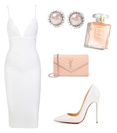 """Untitled #24"" by galusha on Polyvore featuring Christian Louboutin, Yves Saint Laurent and Miu Miu Dressy Outfits, Chic Outfits, Date Outfits, Night Outfits, Fashion Outfits, Curvy Fashion, Fashion Heels, Love Fashion, Womens Fashion"