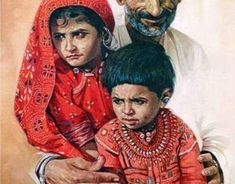 Paintings by Ashok Khant on Behance Watercolor Sketch, Watercolor Artists, Watercolor Landscape, Watercolor Paintings, Human Figure Sketches, Figure Sketching, Human Painting, Figure Painting, Indian People