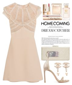 """""""Homecoming Style 2258"""" by boxthoughts ❤ liked on Polyvore featuring Whiting & Davis, Miu Miu, Stuart Weitzman, Chanel, Jouer, Tory Burch, Yves Saint Laurent, Charlotte Tilbury and Homecoming"""
