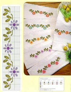 Daisy chain cross stitch (love