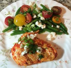 Harissa Grilled Chicken with Arugula, Feta, Heirloom Tomato & Green ...