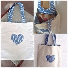 Large handmade tote bag by OhhSewLovely on Etsy
