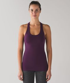 This versatile racerback was  designed to stay put and out  of your way when you're on the  move.