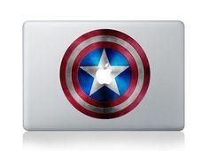 Captain America's shield ----Macbook Decal Macbook Sticker Mac Decal Apple Vinyl Decal for Macbook Pro / Macbook Air