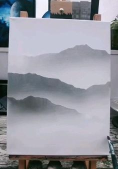 Canvas Painting Tutorials, Watercolor Painting Techniques, Diy Canvas Art, Canvas Painting Designs, Watercolor Paintings Nature, Watercolor Art Landscape, Watercolor Tutorials, Mountain Paintings, Painting Of Mountains