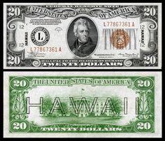 Not J-Currency: Hawaii Overprint US-$20-FRN-1934-A-Fr.2305.jpg (4500×3887)