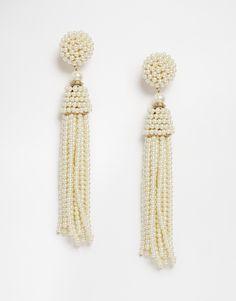 Image 1 of ALDO Faux Pearl Elieviel Drop Earrings