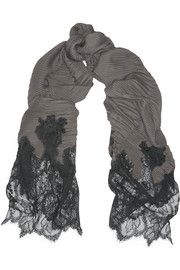Cashmere-blend and lace scarf Valentino 5ksoGSR