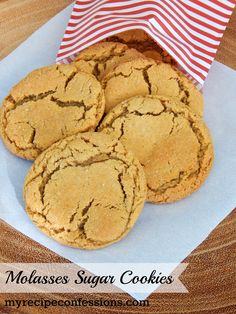 These Molasses Sugar Cookie are soft and chewy with the perfect amount of molasses and spice. They have been a family favorite for years now. You can find more mouth watering recipes @ http://myrecipeconfessions.com/
