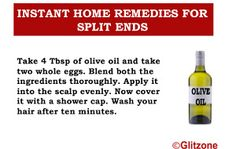 Instant Home Remedies For Split Ends