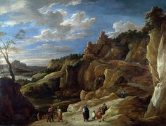 David Teniers the Younger - A Gipsy Fortune Teller in a Hilly Landscape [c.1640]