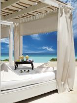 Beach bed at Live Aqua Cancun, adults-only spa resort