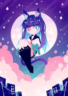 Lolis Neko, Anime Neko, Kawaii Anime, Kawaii Drawings, Cute Drawings, Character Art, Character Design, Dibujos Anime Chibi, Chibi Cat