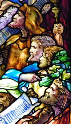 Tiffany Studios | Frederick Wilson, designer | Te Deum, 1906 (detail) | Leaded glass | First Presbytrian Church, Syracuse, NY