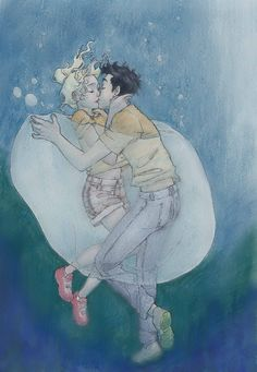 Percabeth by Burdge Bug- make Percy a merman and this could be Tristan and Layla from The Vicious Deep by Zoraida Córdova