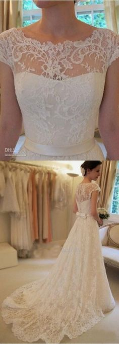 Lace wedding dress. Forget about the soon-to-be husband, for the present time lets focus on the bride-to-be whom thinks about the wedding ceremony as the best day of her life. With this reality, then it's definite that the bridal dress should be the best.