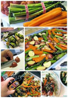 Recipe: Roasted Vegetables with Balsamic Vinegar-also good without vinegar, just add italian seasoning, a good amount of diced garlic, can also use artichoke hearts, mushrooms, thick slices of squash and zuchinni and leave out the potatos.