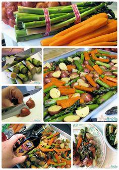 Roasted Vegetables with Garlic and Balsamic Vinegar   #BHGSummer