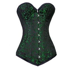 c59d1f3e4d Long Green Brocade Corset from Corsets Gothic Corset