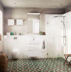 Vita badrum - Happie - små överskåp |Ballingslöv