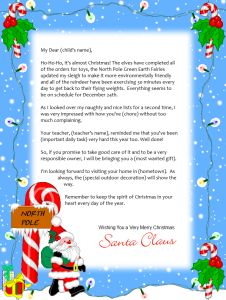 free printable santa letter letter 3 backgrounds - Free Santa Letter Template