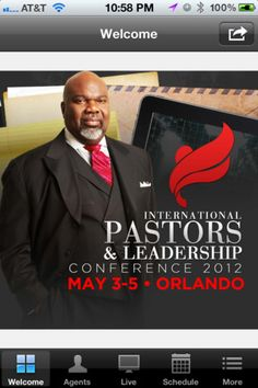 PL Conf is the official app of the International Pastors and Leadership Conference founded by Bishop Jakes #PL2012