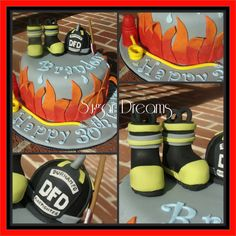 A fire fighter cake for my fireman husband :)