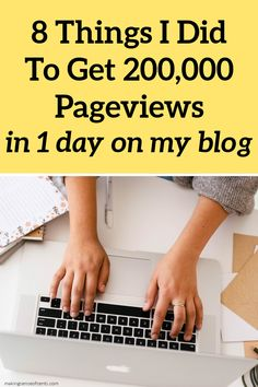 8 Things I Did that Helped Me Get Over 200,000 Pageviews in 1 DAY (no ads) Best Online Jobs, Online Jobs From Home, Work From Home Jobs, Money From Home, Make Money Blogging, Way To Make Money, Make Money Online, Earn Extra Cash, Extra Money