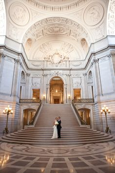 The San Francisco City Hall wedding of Carla and Chris.