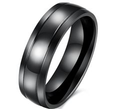 100% Titanium Rings For Men 6mm Cool Black Men' Ring Jewelry Wedding Engagement Male Gift Aliexpress sales
