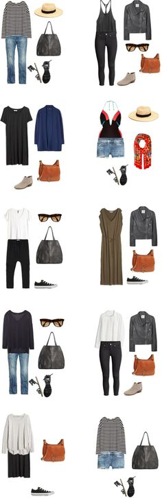 What to Wear in Greece and Belgium Outfit Options 11-20 #packinglight #travellight #traveltips #travel