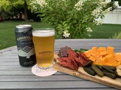 Kingsville Brewery Light Eh! Lager with Fall Charcuterie. Canadian Beer, Essex County, Light Beer, Wineries, Charcuterie, Brewery, Alcoholic Drinks, Fall, Alcoholic Beverages