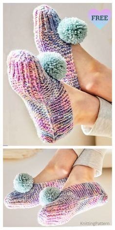 Easy Old Fashioned Slippers Free Knitting Patterns - Knitting Pattern # easy knitting patterns Beginner Knitting Patterns, Sweater Knitting Patterns, Knitting For Beginners, Loom Knitting, Knitting Socks, Free Knitting, Baby Knitting, Crochet Patterns, Start Knitting