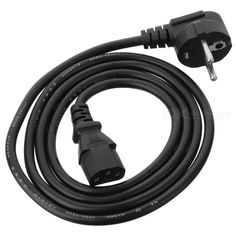 European/EU Type PC AC Power Cord/Cable (120CM/250V). Replacement power cord for Personal Computers, Printers, Office equipment, Instrumentation and Consumer Electronics Applications - Stranded Copper Wire ?C Black Jacketed - Voltage: 250V AC 10A. Tags: #Computers/Tablets #Networking #Cables #Adapters #Computer #Cable #Adapter