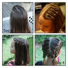 Cute hairstyles! Amazing Blog. One day my princess will have enough hair for me to do this.